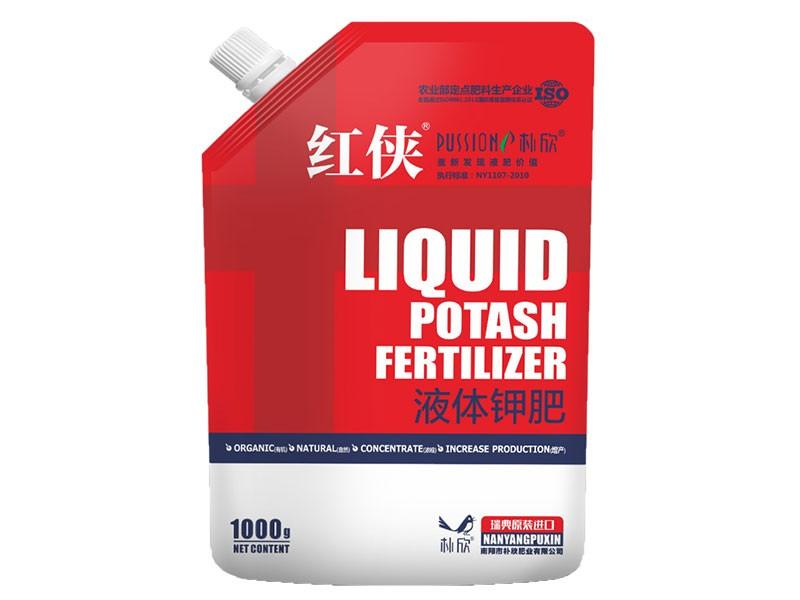 红侠钾软体袋 :瑞典原装进口有机液体钾肥